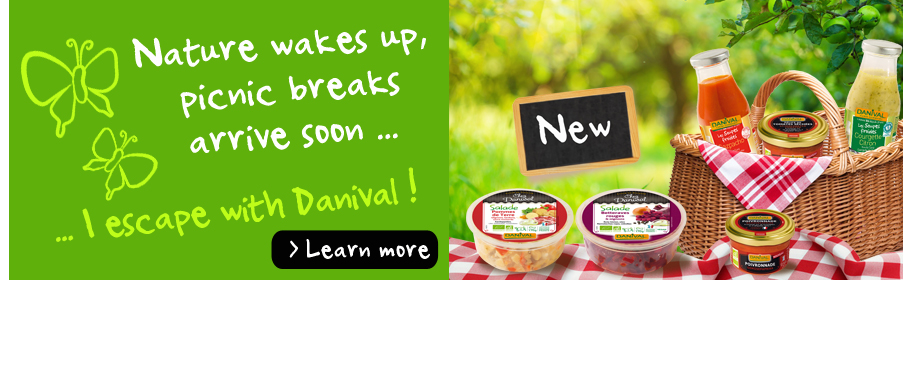Danival annouces the arrival of organic spring
