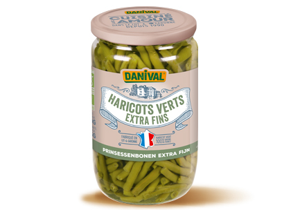 Haricots verts extra fins fran ais 345g 660g danival for Cuisinier extra