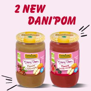 Two new Dani'Pom, french organic compotes